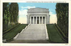 Lincoln Memorial Hall , Lincoln Farm Postcard