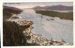 Areial View of Ketchikan