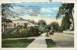 Church St. In Front Of Normal School Postcard