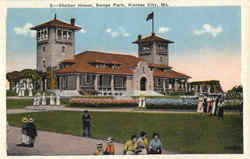 Shelter House, Swope Park Postcard