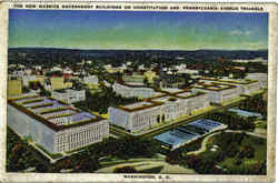 The New Massive Government Buildings On Constitution , Pennsylvania Avenue Triangle