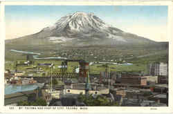 Mt. Tacoma And Part Of City