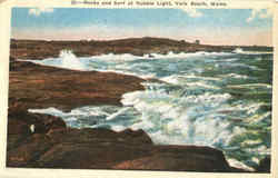 Rocks And Surf At Nubble Light