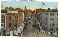 Union Square And Lisbon St.. Loking South Postcard