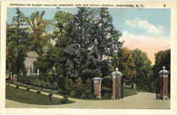 Entrance To Sleepy Hollow Cemetery And Old Dutch Church