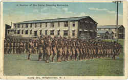 A Section Of Camp Dix Showing Barracks