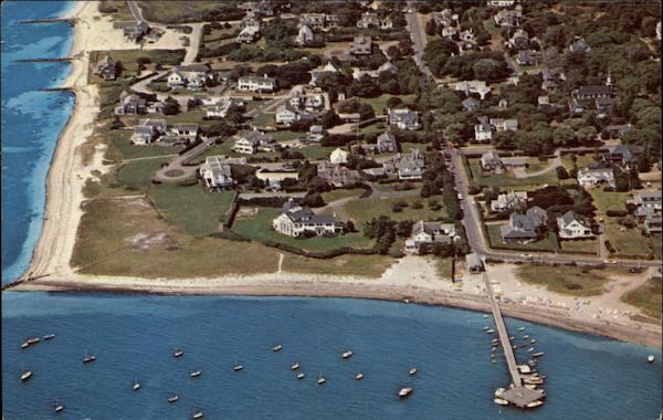 Aerial View Kennedy Compound At Hyannisport Cape Cod Ma