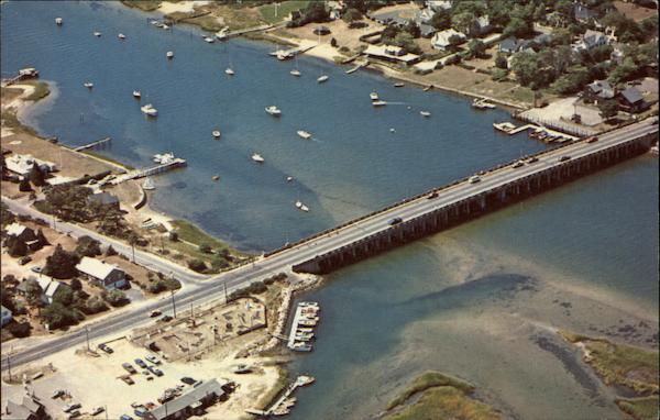 Aerial View of Bass River Bridge - South Yarmouth Cape Cod Massachusetts