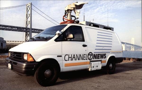 Channel 7 News - Broadcasting Truck San Francisco California