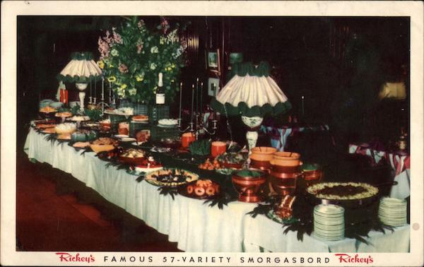 Rickey's Studio Club - Famous 57-Variety Smorgasbord San Francisco California