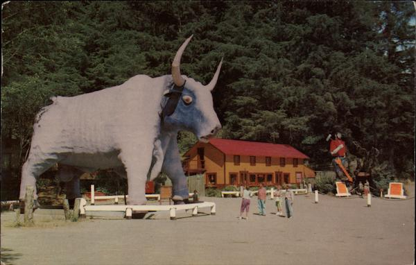 Paul Bunyan's Blue Ox, Babe Redwood Highway California