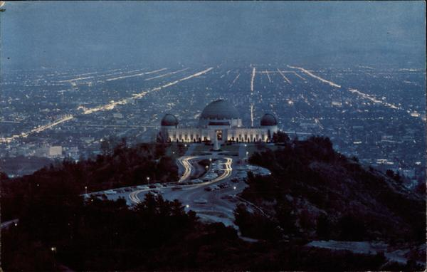 View of the City at Dusk Los Angeles California William Graham