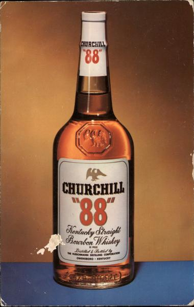 Churchill 88 Kentucky Straight Bourbon Whiskey Advertising
