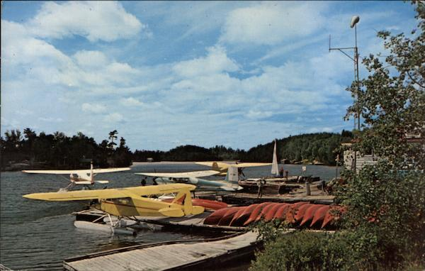View from the Dock of Lakeland Airways Temagami Canada