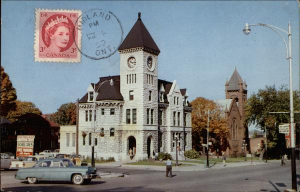 Post Office on King Street Midland Canada Ontario