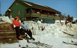 Skiers Taking a Rest