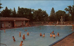 Community Memorial Swimming Pool Postcard