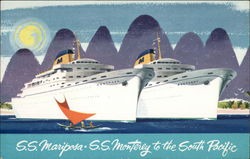 SS Mariposa - SS Monterey to the South Pacific