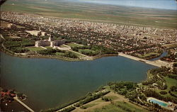 Aerial View of Saskatchewan Parliament Buildings and Wascana Lake