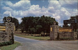 Entrance to the Texas Lion's Camp for Crippled Children