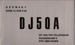 DJ5QA Citizens Band Radio Callsign