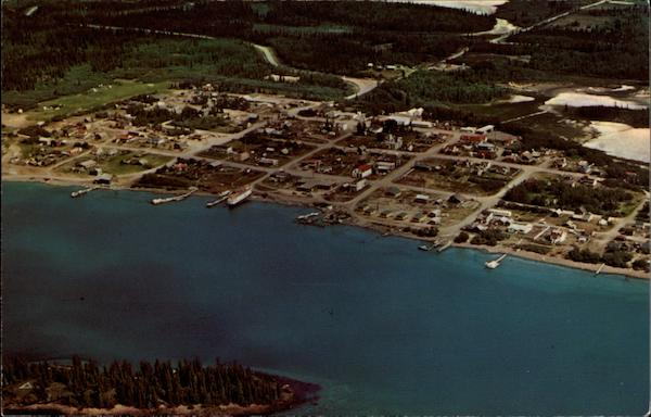 Aerial View of Town Atlin Canada British Columbia