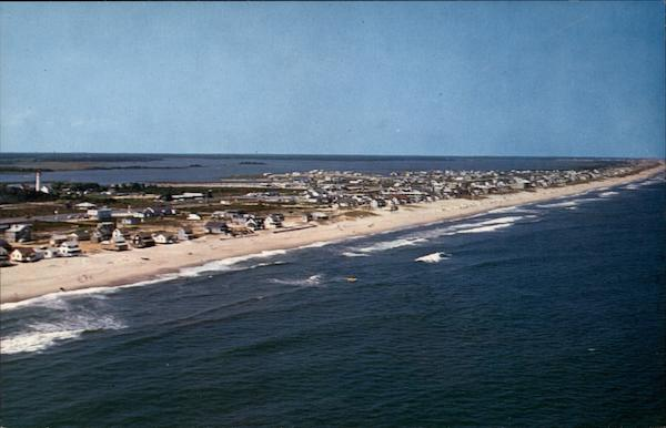Aerial view of Fenwick Island Delaware
