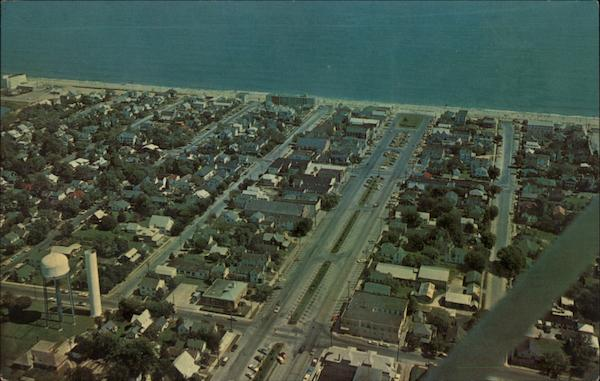 Aerial View of Town and Beach Rehoboth Beach Delaware