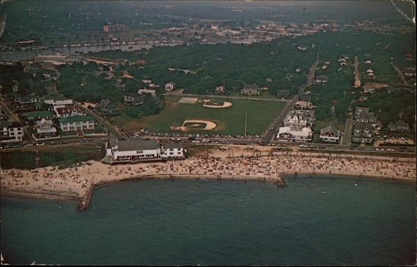 Aerial View of Falmouth Heights Beach Cape Cod Massachusetts