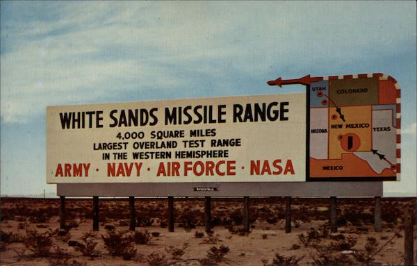 White Sands Missile Range Alamogordo New Mexico
