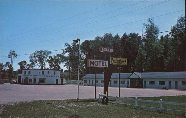 Greetings From Lor-Lee Motel & Texaco Service Station Barrie Canada