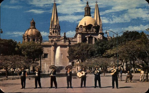 Cathedray and Typical Mariachi Jal Mexico