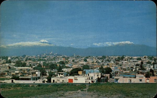 Panoramic View of Town Puebla Mexico