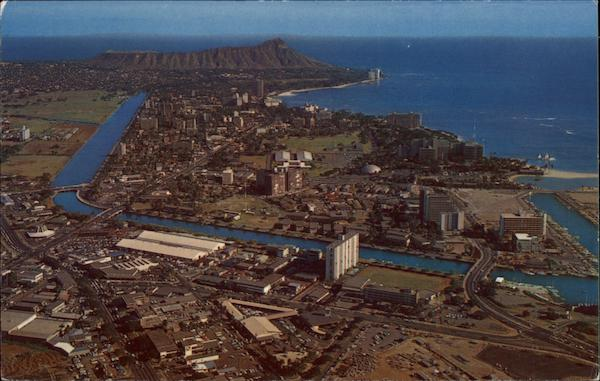Aerial View of City Waikiki Hawaii
