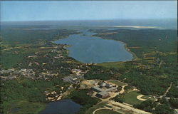 Aerial View of Orleans - Town Cove and Bowland's Pond