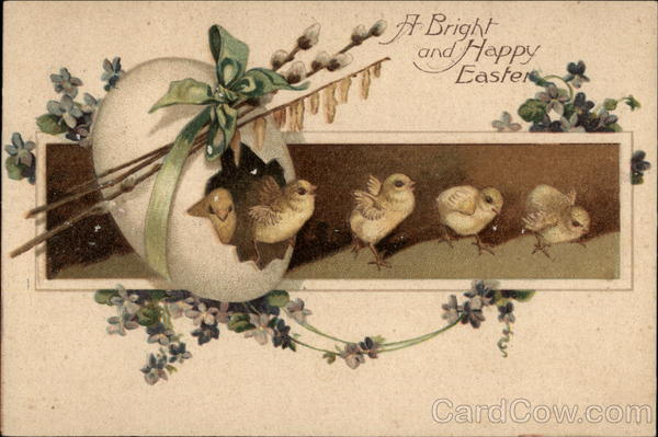 A Bright and Happy Easter - Chicks and Egg With Chicks