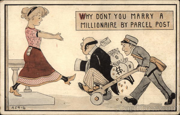 Why Don't You Marry A Millionaire By Parcel Post Comic, Funny