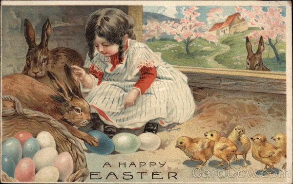 A Happy Easter With Bunnies