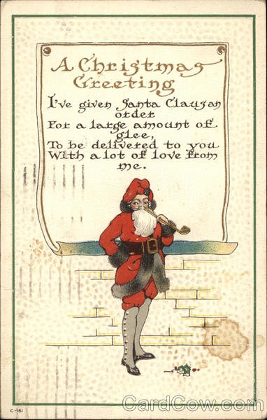 A Christmas Greeting Santa Claus
