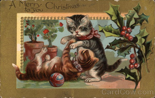 A Merry Christmas to You With Cats
