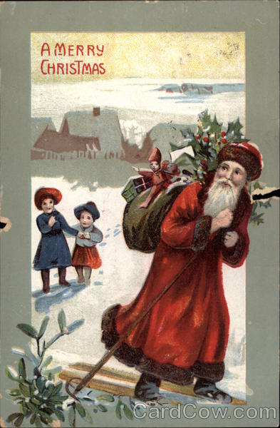 A Merry Christmas - Santa Claus with Children
