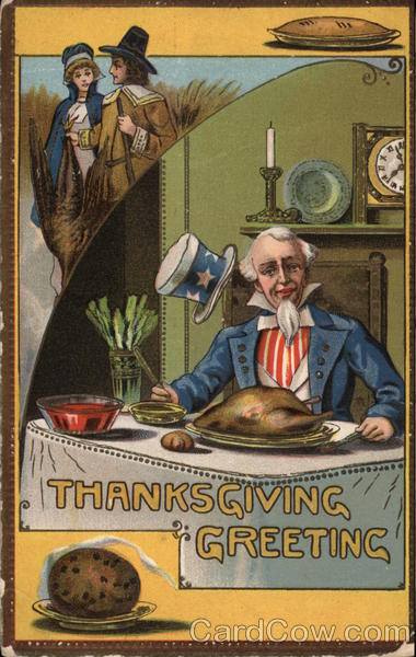 Thanksgiving Greeting, Uncle Sam Patriotic