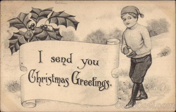 I Send You Christmas Greetings Children