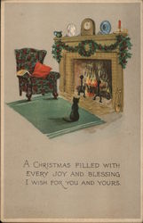 Christmas By The Fireside Postcard