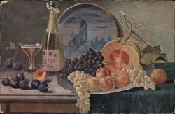 Still Life - Fruit and Wine