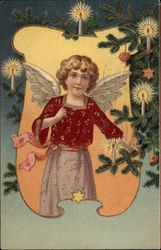 Angel with Christmas Tree