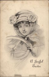 A Joyful Easter - Young Woman Driving a Car
