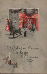 Wishing my Mother a happy Christmas Postcard