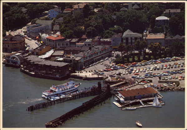 Aerial View of Town Sausalito California