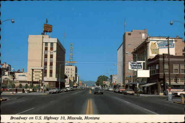 Broadway on US Highway 10 Missoula Montana Jim Frye